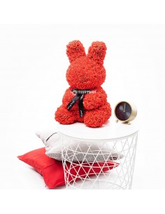 Red Rose Bunny 40 CM – 16 Inch – Oki Roosidest Karud - Roosidest Mängukaru - Rooside Mängukaru - Lille Mängukaru